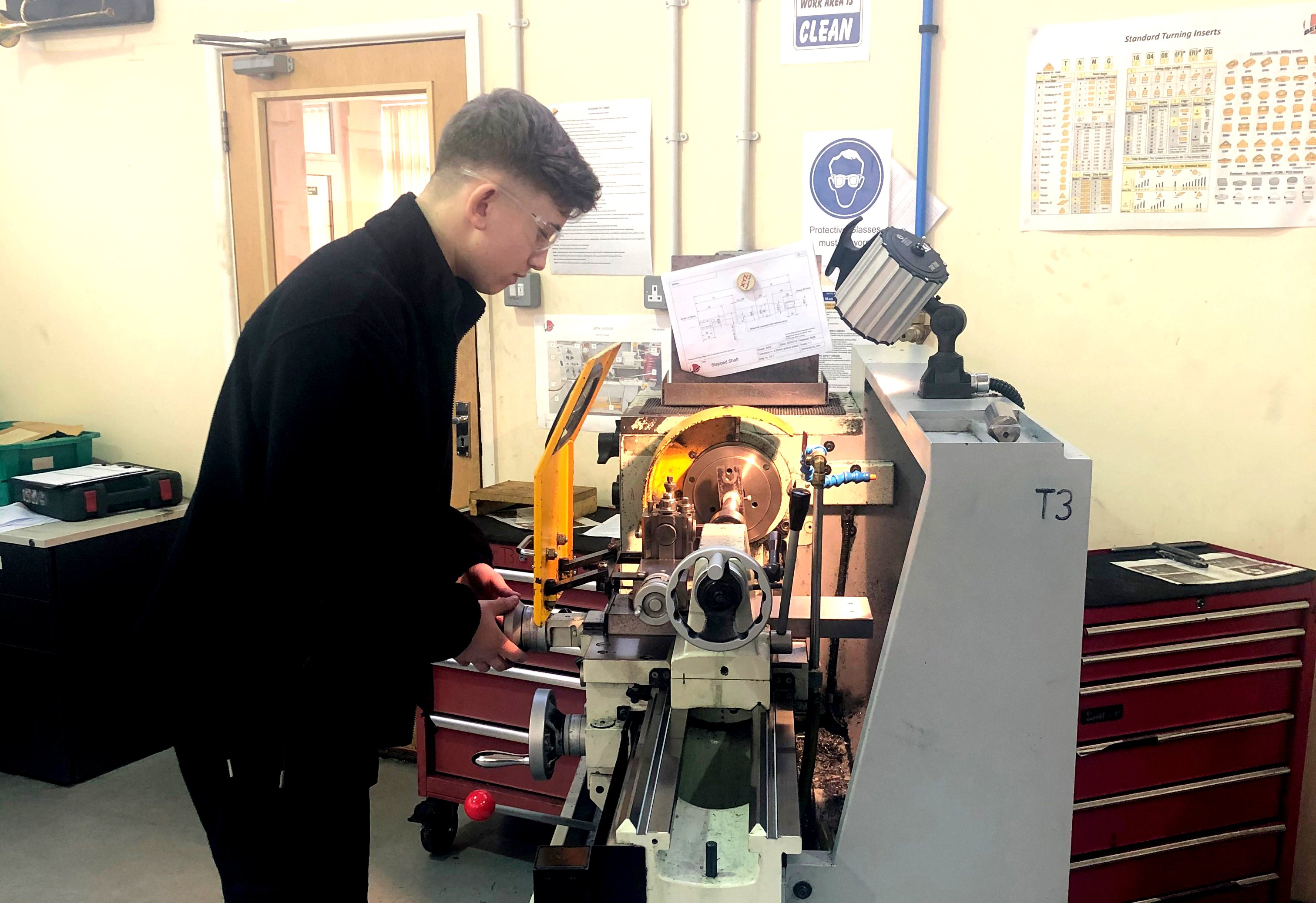 Harri is learning more as an Apprentice